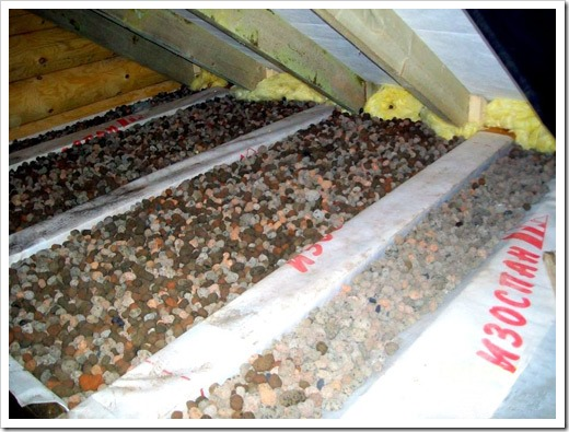 Утепление потолка керамзитом?
