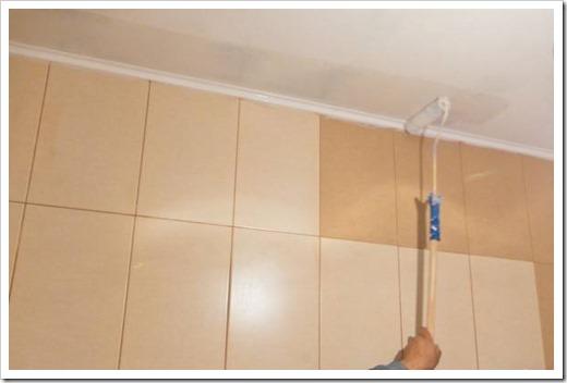 Как побелить потолок мелом?