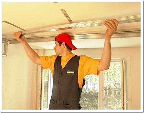 Как крепить подвесной потолок?