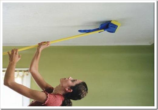 Чем мыть матовые натяжные потолки?