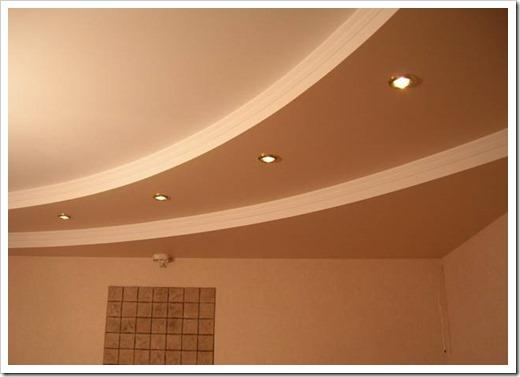 Покраска двухуровневого потолка из гипсокартона
