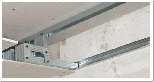 Как гипсокартон прикрепить к потолку