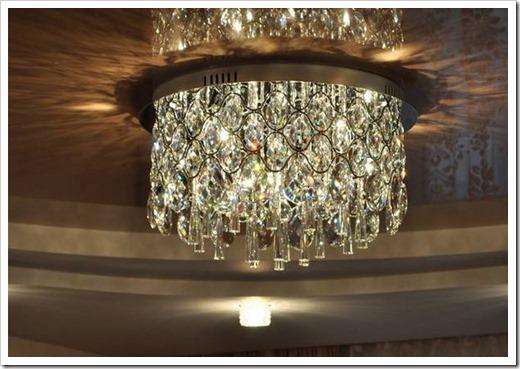 Хрустальные люстры для натяжных потолков