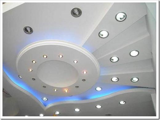 Расположение светодиодных светильников на потолке