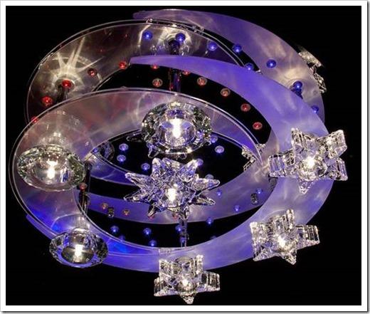 Галогеновые люстры для натяжных потолков