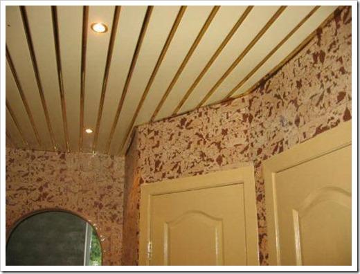 Как разобрать подвесной реечный потолок