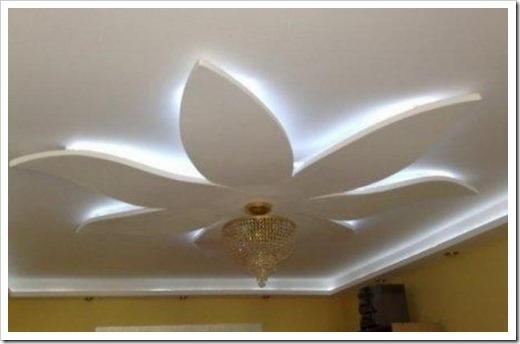 Дизайн подвесных потолков из гипсокартона.