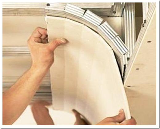 Как согнуть гипсокартон для потолка?