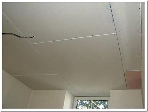 Как класть гипсокартон на потолок?