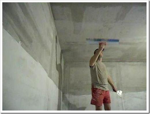Выравнивание потолка под покраску.