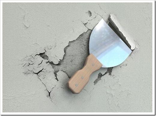 Как снять шпаклевку с потолка?