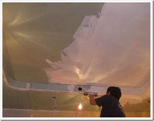 Как покрасить подвесной потолок?