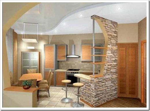 Потолки из гипсокартона – дизайн для кухни.