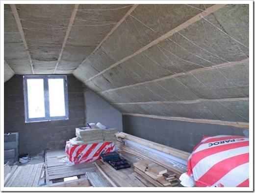 Толщина минваты для утепления потолка