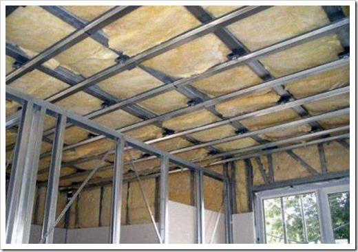 Как утеплить подвесной потолок?