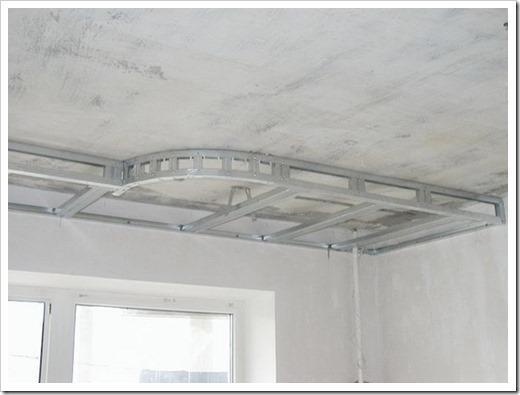 Подготовка потолка к монтажу ГКЛ.