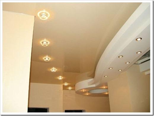 Плоские светильники для натяжного потолка