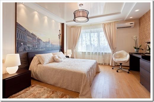 Выбираем натяжной потолок для спальни или гостиной