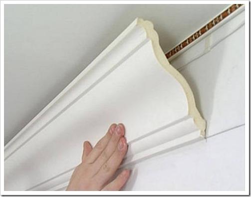 Правила при монтаже потолочных плинтусов