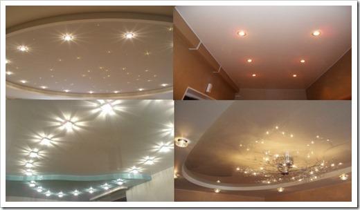 Натяжные потолки: варианты осветительных приборов