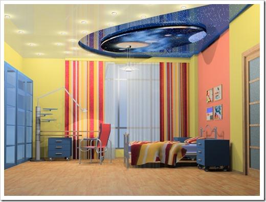 Выбираем натяжной потолок для детской комнаты