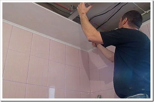 Подготовка монтажа подвесного потолка из ПВХ панелей