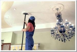 Правила и порядок очистки натяжных полотен