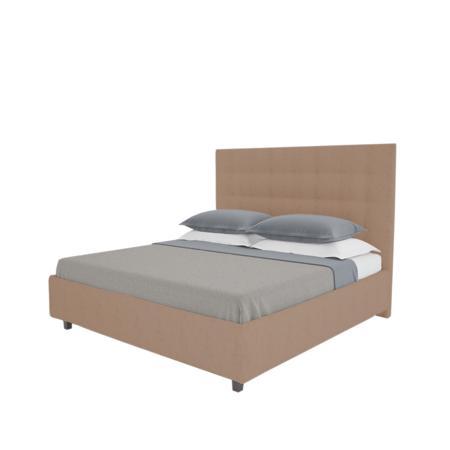 Купить Кровать Royal Black 200х200 Велюр Серо-коричневый