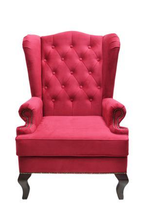 Купить Каминное кресло с ушами Велюр Красный