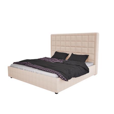 Купить Кровать Elizabeth 140х200 Велюр Светло-бежевый