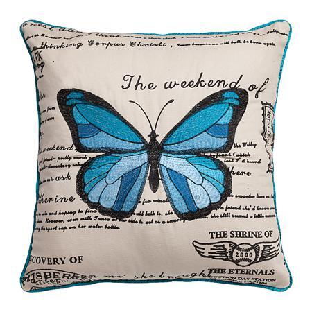 Купить Подушка с голубой бабочкой Arte