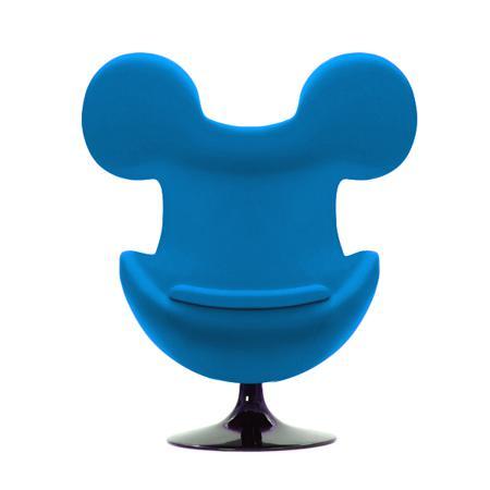 Купить Кресло Egg Mickey Голубое 100% Шерсть