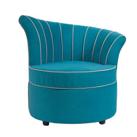 Купить Кресло Shell Голубой Велюр