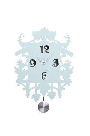 Купить Настенные часы с маятником Puzzle Blue