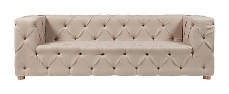 Купить Диван Soho Tufted Upholstered Sofa Кремовый Лен