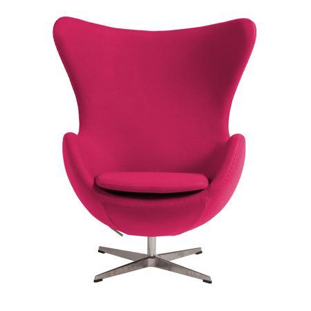 Купить Кресло Egg Chair Розовое 100% Шерсть