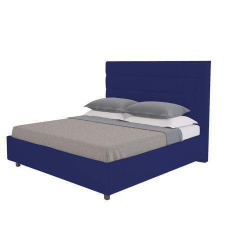 Купить Кровать Shining Modern 200х200 Велюр Синий