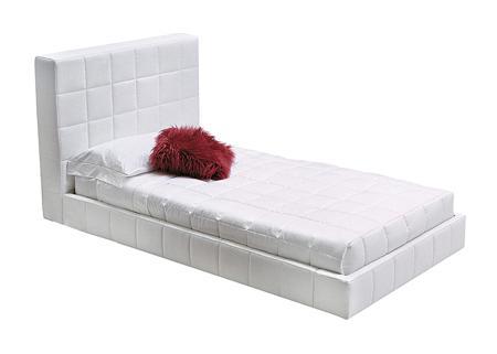 Купить Кровать Squaring Alto 180х200 Белая Экокожа