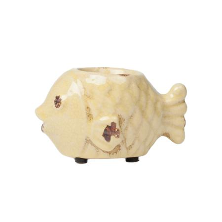 Купить Подсвечник Рыбка Жёлтый
