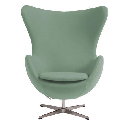 Купить Кресло Egg Chair цвета Тиффани 100% Шерсть