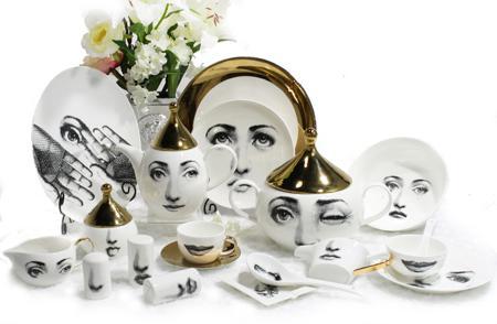 Купить Столовый сервиз Пьеро Форназетти Golden Faces
