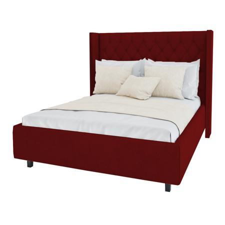 Купить Кровать Wing-2 160х200 Велюр Красный