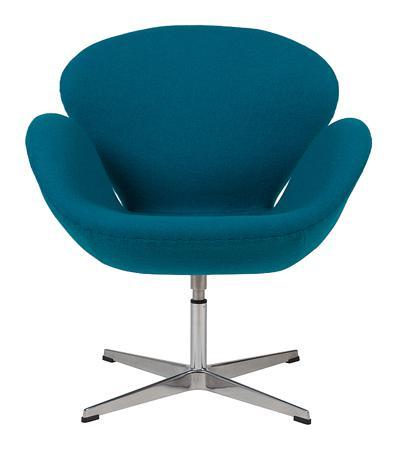 Купить Кресло Swan Chair Темно-голубая Шерсть