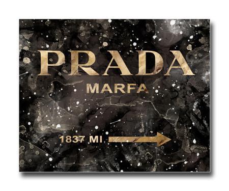 Купить Постер Prada Mafia на чёрном в золотом A4