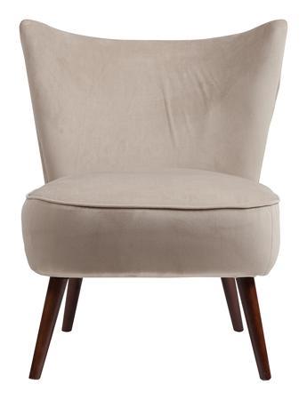 Купить Кресло Vermont Chair Серо-Бежевый Велюр