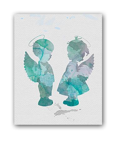 Купить Постер Ангелочки А3