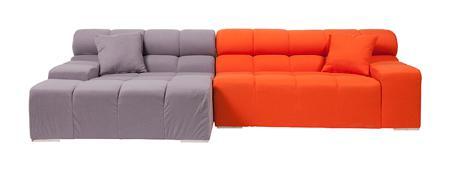 Купить Диван Tufty-Time Sofa Серо-оранжевый Шерсть