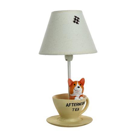 Купить Детская настольная лампа Собачка за чаем