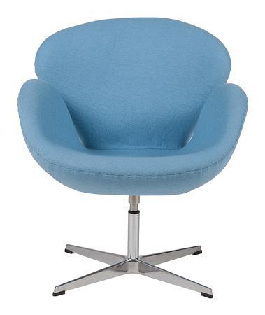 Купить Кресло Swan Chair Голубая Шерсть
