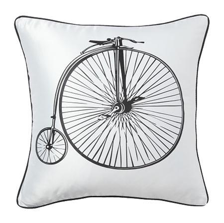 Купить Подушка с ретро-велосипедом Retro Bicycle White